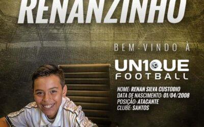 Renanzinho, atleta do Santos Sub-11, é o novo cliente da Un1que Football