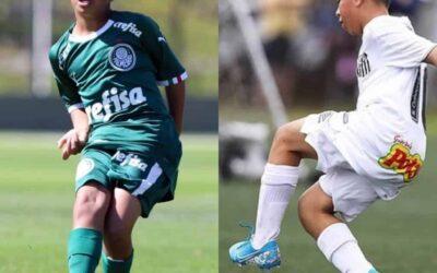 Wilker e Renanzinho se destacam e colocam Palmeiras e Santos na decisão do Paulista Sub-11