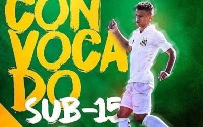 Volante Sandry, do Santos, é convocado para período de preparação da Seleção Brasileira Sub-15