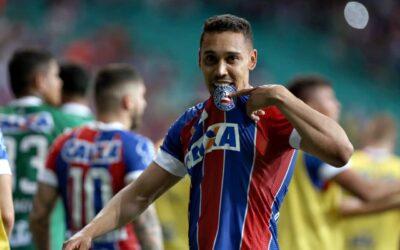 Com gol de letra, Edigar Junio é mais uma vez decisivo em triunfo do Bahia