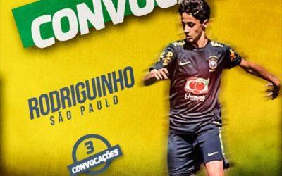 Rodriguinho, do São Paulo, é mais uma vez convocado para a Seleção Brasileira sub-15