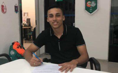 Atacante Guilherme Vieira renova contrato com o Palmeiras