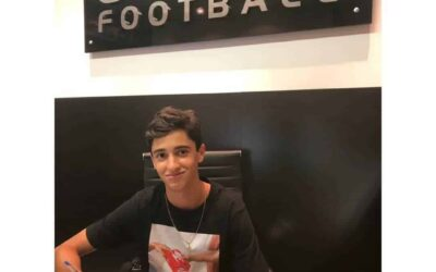 Rodriguinho, meio-campista do São Paulo Sub-15, renova contrato com a Un1que Football