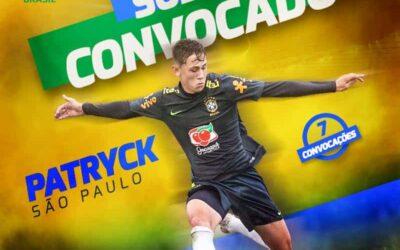 Patryck é novamente convocado para a Seleção Brasileira Sub-17