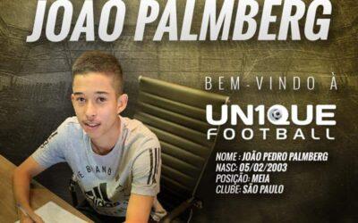 João Palmberg, meio-campista do São Paulo Sub-17, é o novo cliente da Un1que Football