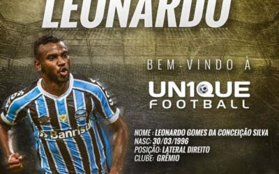 Un1que Football passa a representar Leonardo, lateral-direito do Grêmio