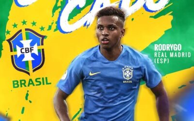 Rodrygo é convocado pela primeira vez para defender a Seleção Brasileira