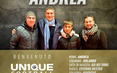 Andrea, atacante da Juventus, é o novo cliente da Un1que Football