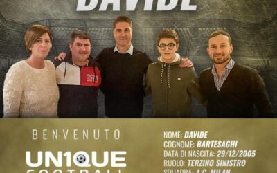 Davide, lateral-esquerdo do Milan, é o novo cliente da Un1que Football
