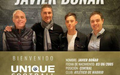 Javier Boñar, zagueiro do Atlético de Madrid, é o novo cliente da Un1que Football