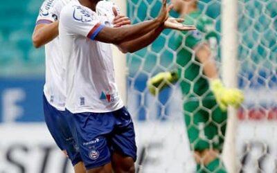 Élber marca novamente e faz boa partida em vitória do Bahia pela Sul-Americana