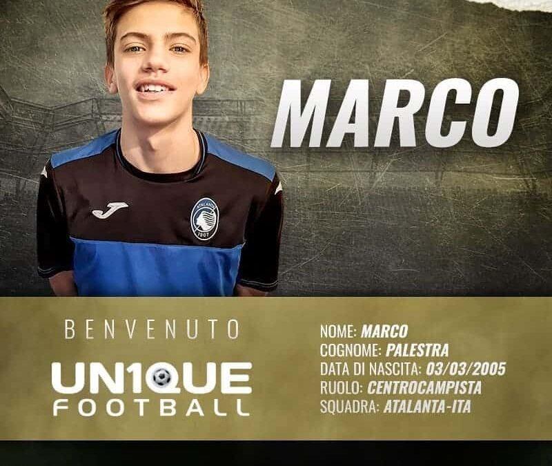 Marco Palestra, meio-campista da Atalanta, é o novo cliente da Un1que Football